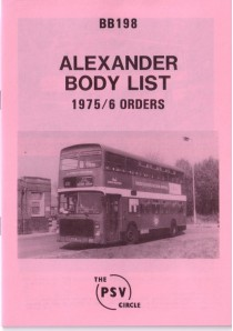 BB198 Alexander built to 1975 & 1976 orders