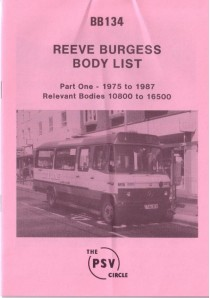 BB134 Reeve Burgess Pt.1 1975-1987 (passenger vehicles only)