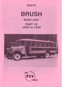 BB279 Brush Coachworks - Part 1b 1925-1930