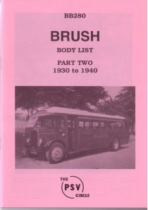 BB280 Brush Coachworks - Part 2 1930-1940