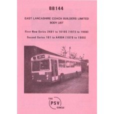 BB144 East Lancs bodies nos 2401-10105 (1st new), A101-A4904