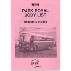 BB408 Park Royal nos 40000 - 47999 (1957-60)