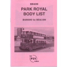 BB409 Park Royal nos 48000 - 54199 (1961-68)