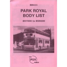 BB411 Park Royal bodies nos 57000 - 58600 (1971/1972)