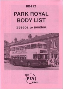BB412 Park Royal bodies nos 58601 - 60500 (1972-1976)