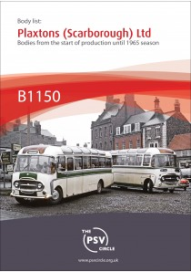 B1150 Plaxtons (Scarborough) bodies start of production until 1965 season