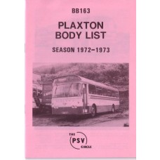 BB163 Plaxton bodies. 1972/3 seasons