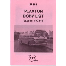 BB164 Plaxton bodies. 1973/4 seasons