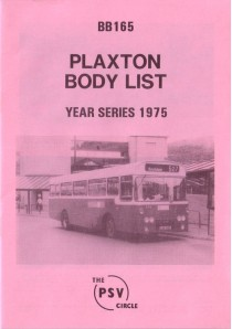 BB165 Plaxton bodies 1975