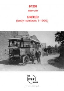 B1200 United Body List Part 1 (Body Nos. 1 to 1000)