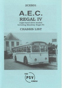 2CXB31 AEC Regal IV rhd models (inc. Maudsley Rl IV)