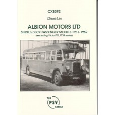CXB392 Albion Single deck models 1931-52 (except Victor FT3/39)