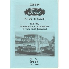 CXB554 Ford R192 & R226 Part 1: BC04EB14442 - BC04JE46323