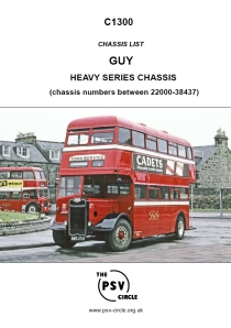 C1300 Guy Heavy Series Chassis numbers between 22000-38437