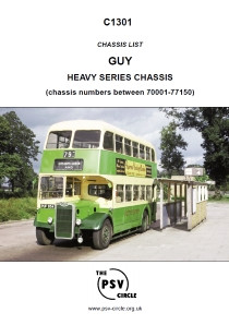 C1301 Guy Heavy Series Chassis numbers 70001 – 77150