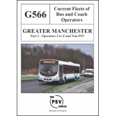 G566 Greater Manchester Part 2: Operators J - Z and Non-PSV