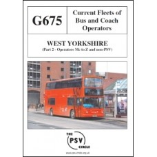 G675 West Yorkshire Part 2: Operators M to Z and Non-PSVs