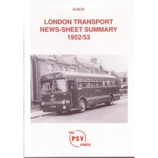 2L52 1952/3 London Transport News Sheet Summary
