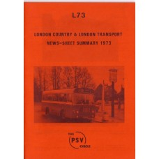 L73 London Country & London Transport News Sheet Summary 1973