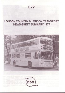 L77 London Country & London Transport News Sheet Summary 1977