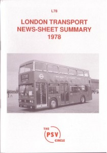 L78 London Country & London Transport News Sheet Summary 1978