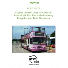 WWK102 Fleet list of Citybus Limited, Long Win Bus Co, New World First Bus and other Hong Kong Bus and Tram Operators